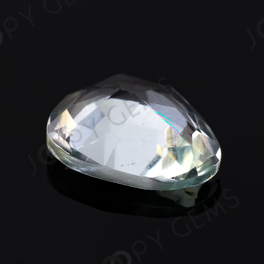 Joopy Gems Aquamarine (Clean) Rose Cut Freeform, 1.87 carats, 10.1x8.2x3.7mm