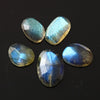 Labradorite Rose Cut Freeform, 9.47 carats (tcw), 9.3-13.4mm, PFRLABSET44