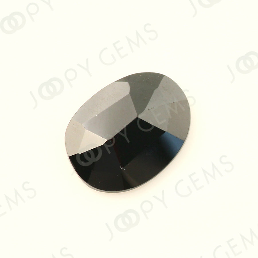 Joopy Gems Black Spinel Rose Cut Freeform, 2.12 carats, 10.2x7.8x2.8mm