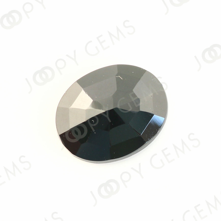 Joopy Gems Black Spinel Rose Cut Freeform, 2.72 carats, 10.1x8.1x3.3mm