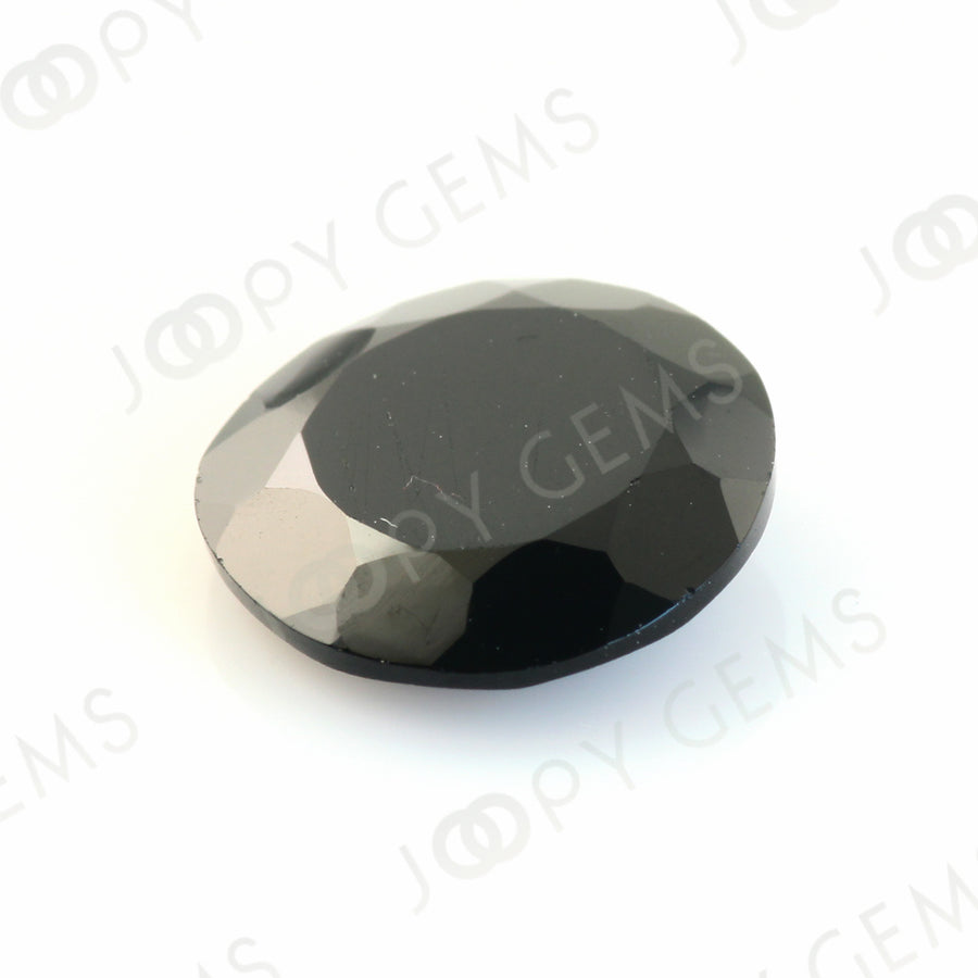 Joopy Gems Black Spinel Rose Cut Freeform, 3.670 carats, 10.8x10.6x3.1mm, PFRSPIB21