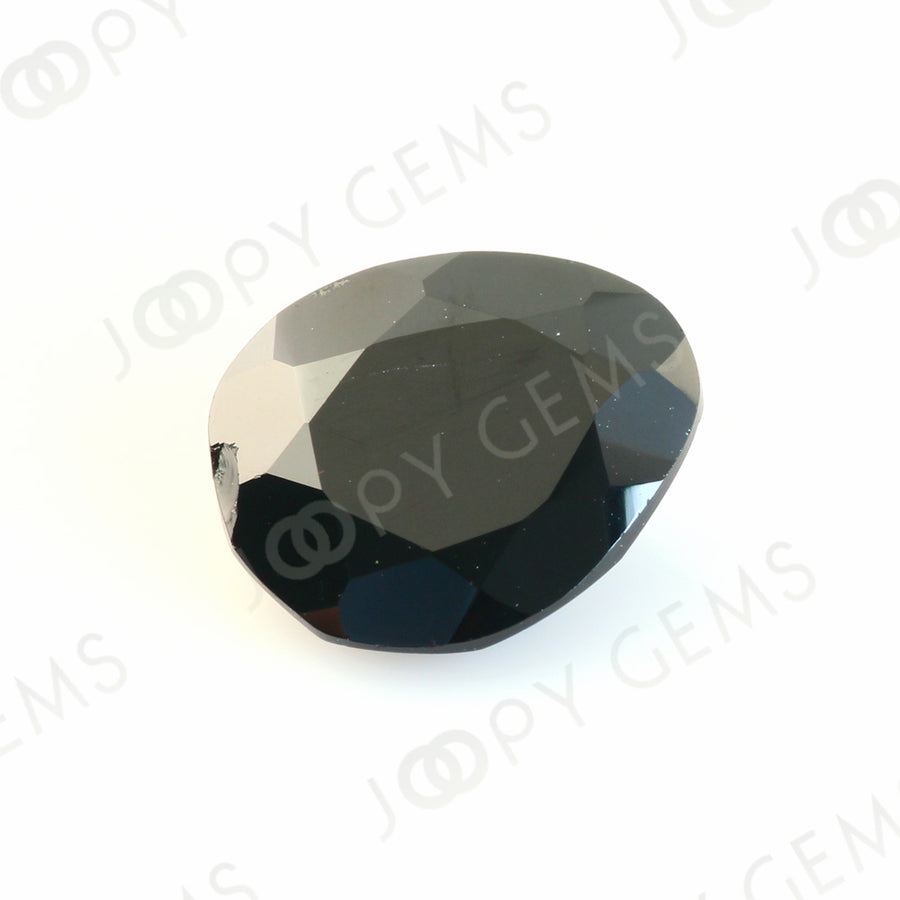 Joopy Gems Black Spinel Rose Cut Freeform, 4.970 carats, 12.4x10.6x5.6mm, PFRSPIB23