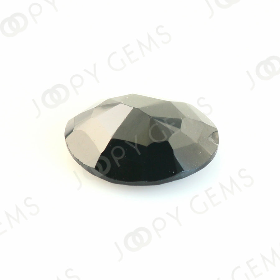 Black Spinel Rose Cut Freeform, 3.135 carats, 10.7x9.4x3.7mm, PFRSPIB26