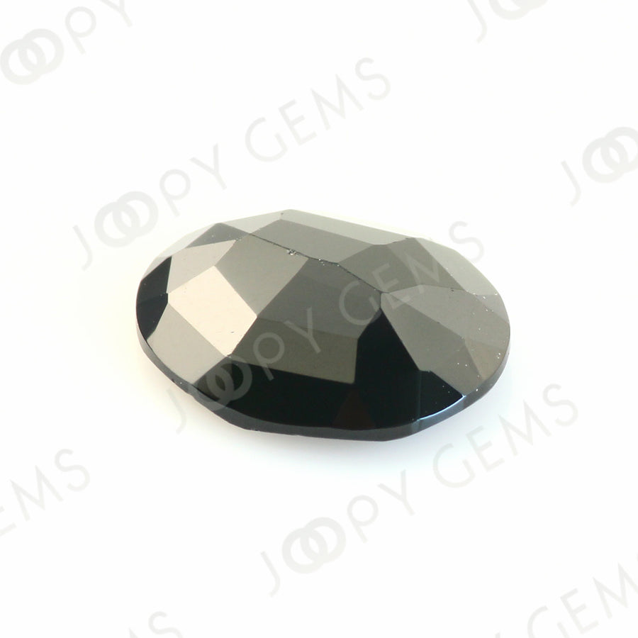 Joopy Gems Black Spinel Rose Cut Freeform, 3.235 carats, 11.3x9.4x3.3mm, PFRSPIB34