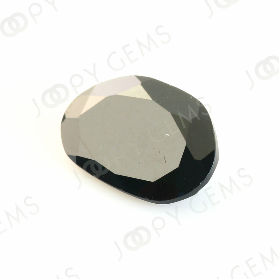 Joopy Gems Black Spinel Rose Cut Freeform, 2.185 carats, 10.8x7.2x3.1mm, PFRSPIB35
