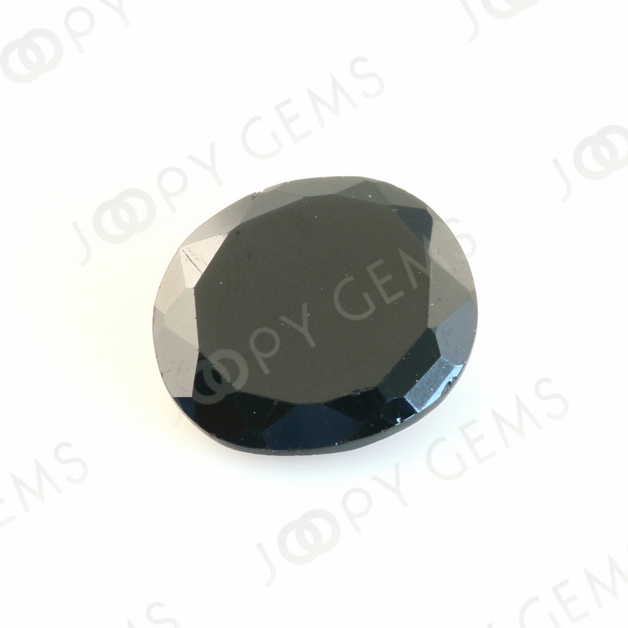 Joopy Gems Black Spinel Rose Cut Freeform, 3.120 carats, 10.7x9.7x3.4mm, PFRSPIB37
