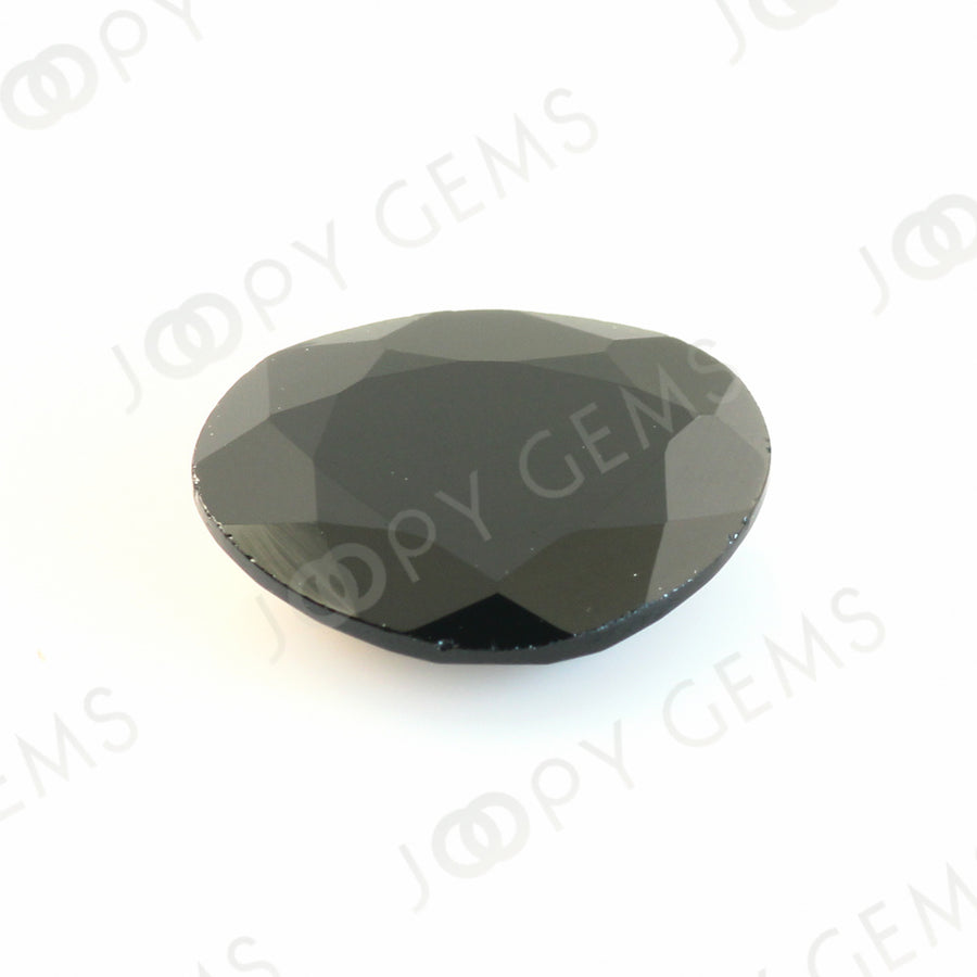 Joopy Gems Black Spinel Rose Cut Freeform, 3.645 carats, 11.7x9.5x3.3mm, PFRSPIB43