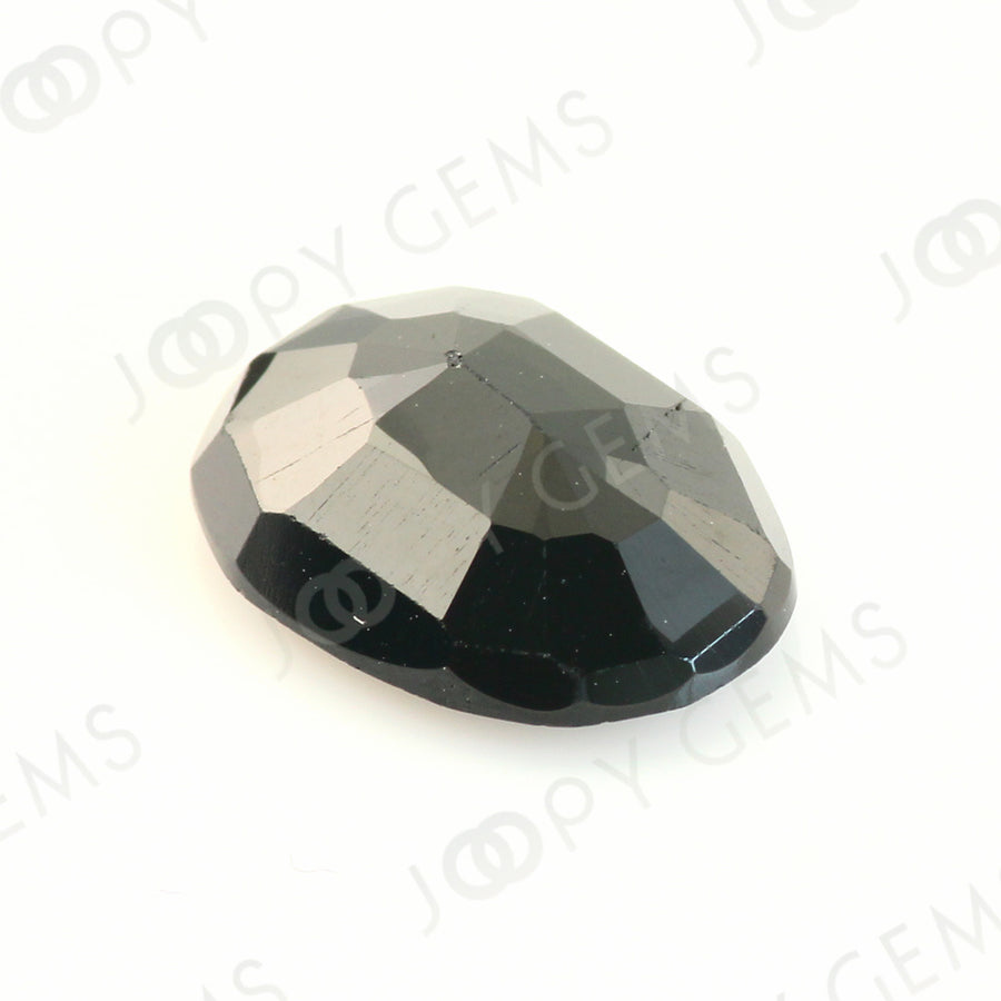 Joopy Gems Black Spinel Rose Cut Freeform, 3.580 carats,11.5x8.4x3.9mm, PFRSPIB48