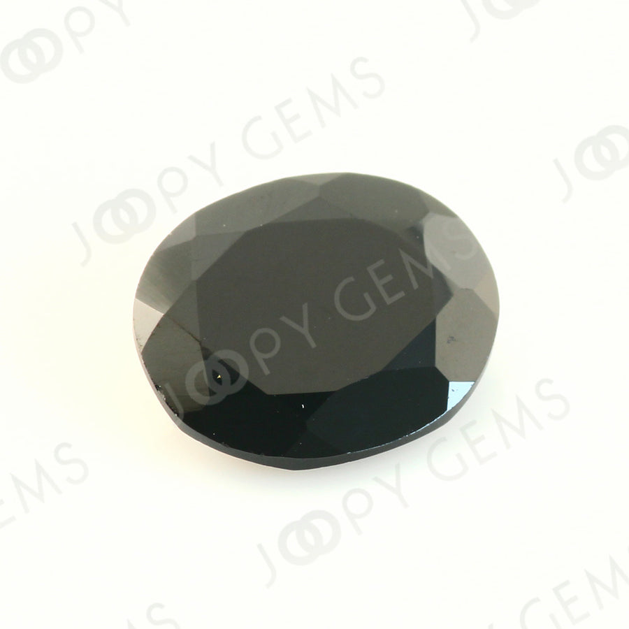 Joopy Gems Black Spinel Rose Cut Freeform, 2.820 carats,10.8x9.4x3.2mm, PFRSPIB49