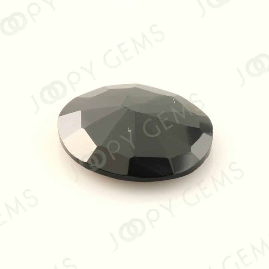 Joopy Gems Black Spinel Rose Cut Freeform, 3.060 carats, 11.4x9.9x2.8mm, PFRSPIB73