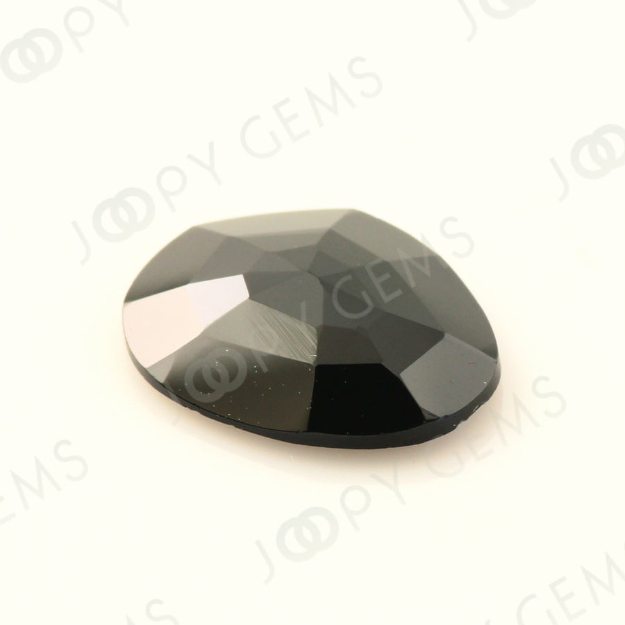 Joopy Gems Black Spinel Rose Cut Freeform, 2.510 carats, 11.5x9x2.8mm, PFRSPIB78