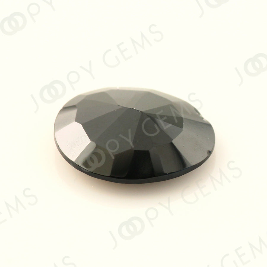 Joopy Gems Black Spinel Rose Cut Freeform, 2.825 carats, 10.9x9.8x3.1mm, PFRSPIB79