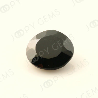 Joopy Gems Black Spinel Rose Cut Freeform, 3.205 carats, 9.9x9.4x3.9mm