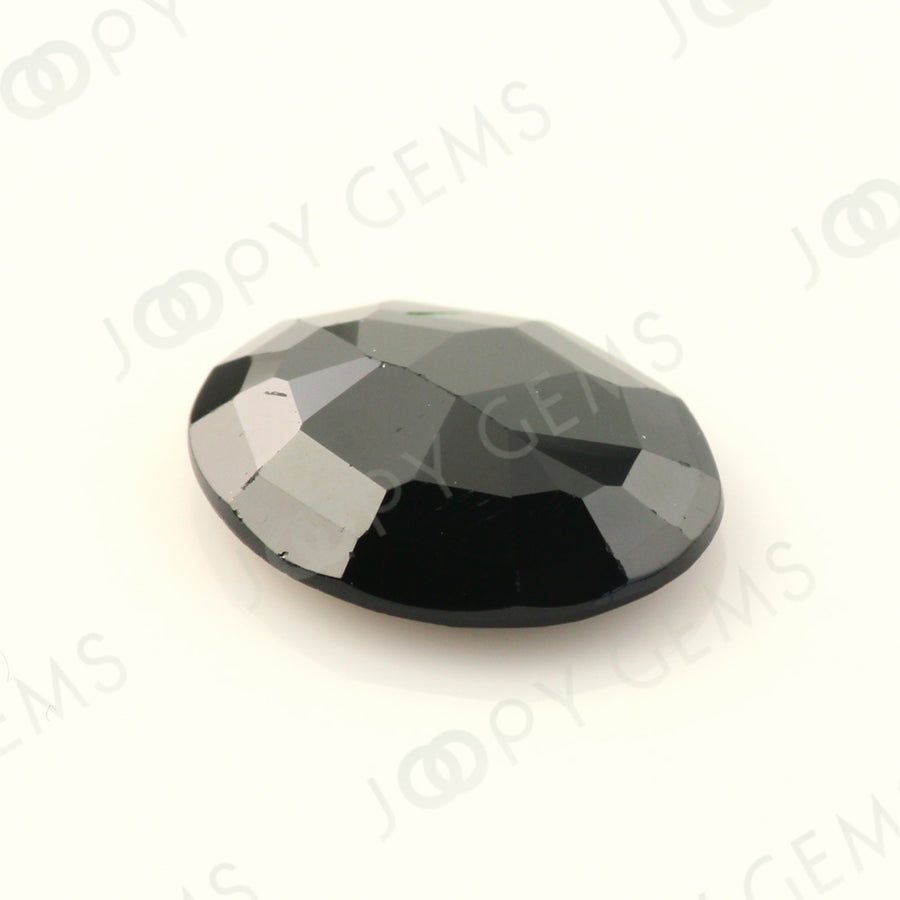 Joopy Gems Black Spinel Rose Cut Freeform, 3.045 carats, 11.5x9.3x3.1mm, PFRSPIB81