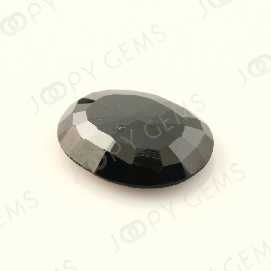 Joopy Gems Black Spinel Rose Cut Freeform, 2.820 carats, 11.1x9x2.8mm, PFRSPIB82