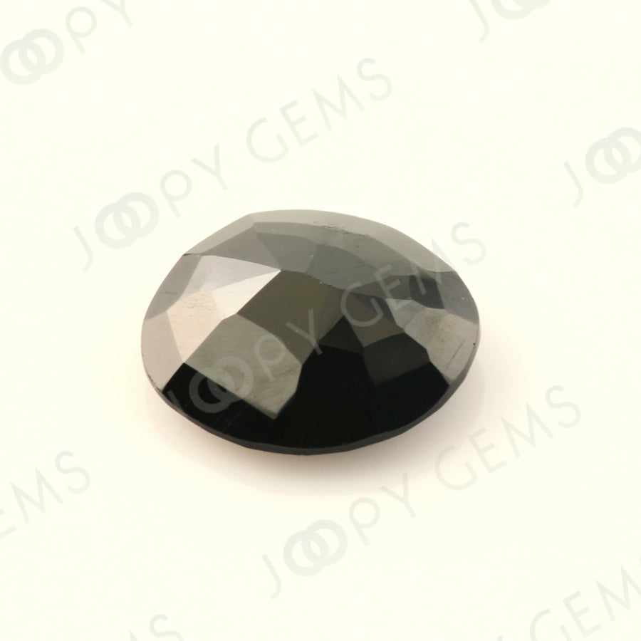Joopy Gems Black Spinel Rose Cut Freeform, 3.185 carats, 10.5x10x3.5mm, PFRSPIB83