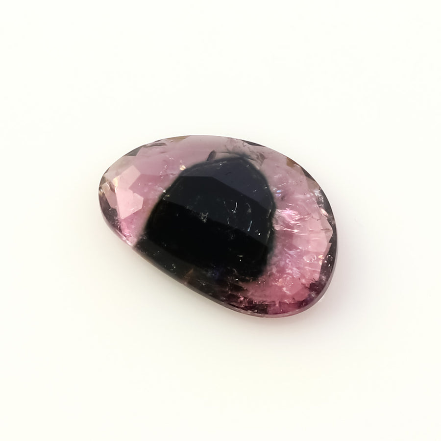 Joopy Gems Tourmaline Rose Cut Freeform 2.315 carats, 11.9x7.9x3mm, PFRTOU169