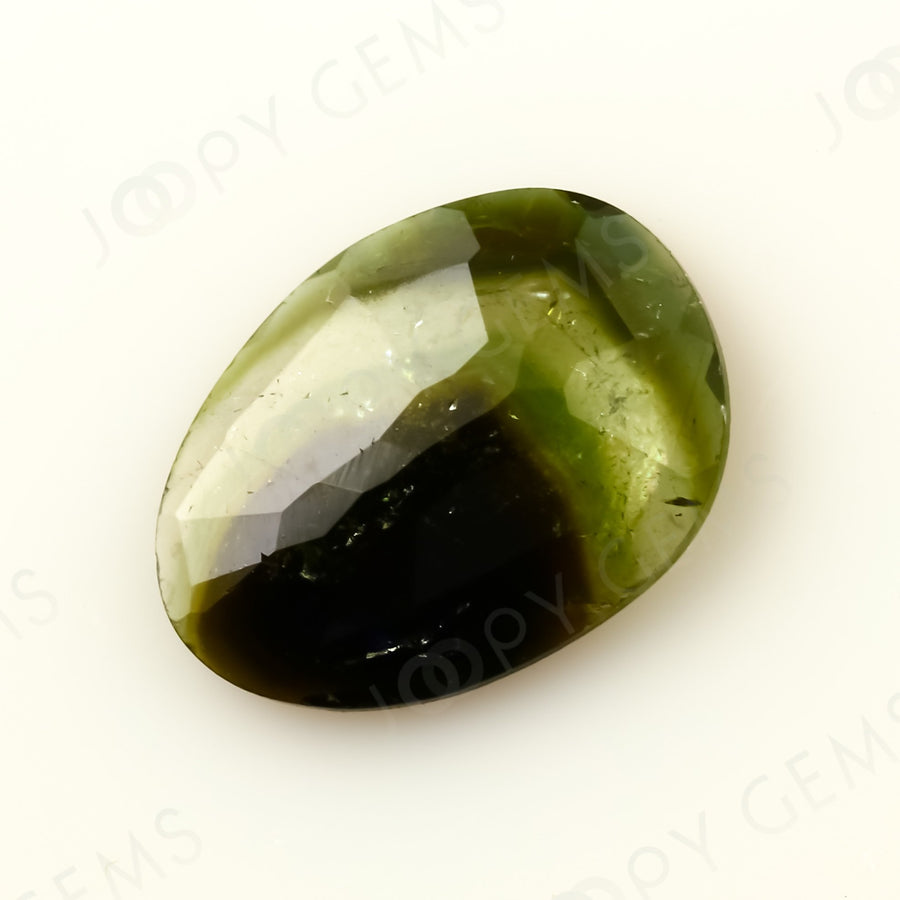 Joopy Gems Tourmaline Rose Cut Freeform, 1.105 carats, 9.8x7.2x2.2mm, PFRTOU420