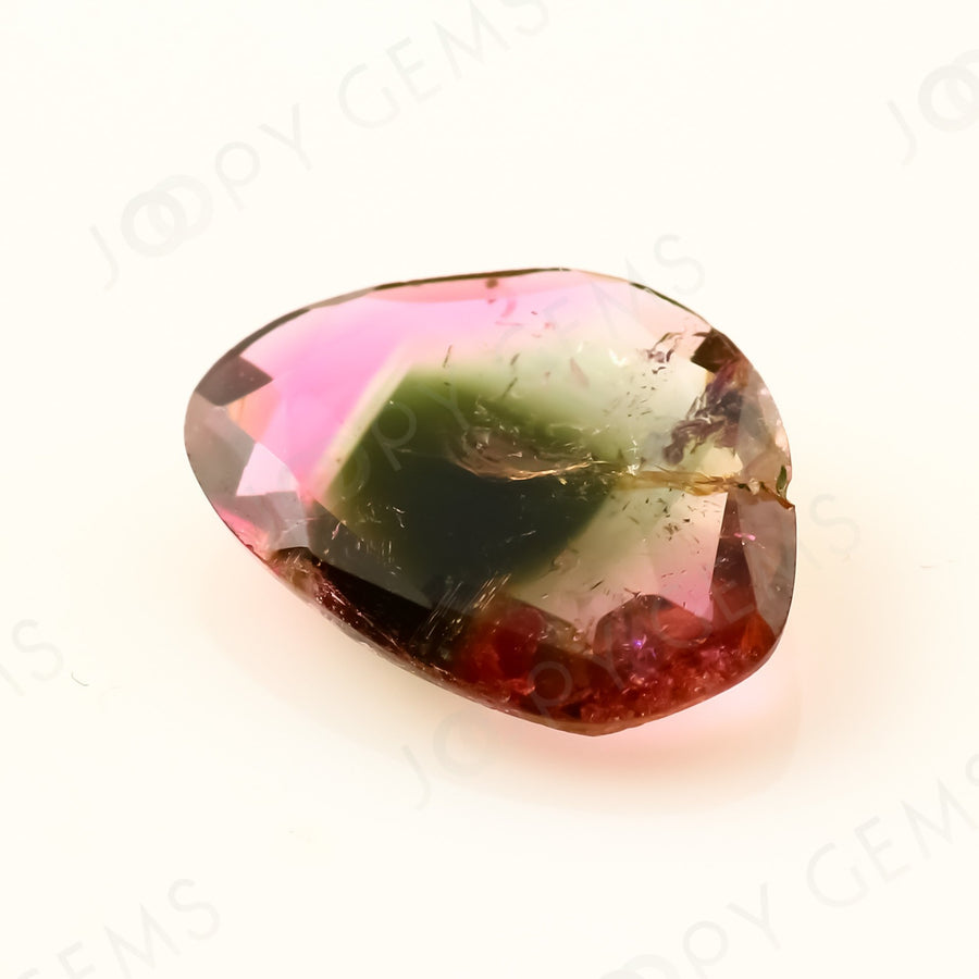 Joopy Gems Tourmaline Rose Cut Freeform, 1.045 carats, 9.5x7.2x2.3mm, PFRTOU432