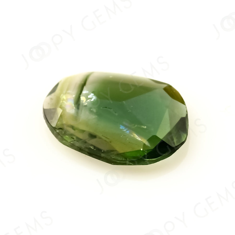 Joopy Gems Tourmaline Rose Cut Freeform, 0.79 carats, 9x6.8x1.8mm, PFRTOU440