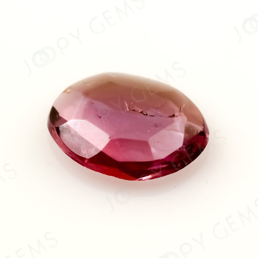 Joopy Gems Tourmaline Rose Cut Freeform, 0.39 carats, 6.5x5.3x1.6mm, PFRTOU463