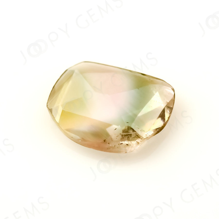 Joopy Gems Tourmaline Rose Cut Freeform, 0.465 carats, 6.8x5.8x1.7mm, PFRTOU478