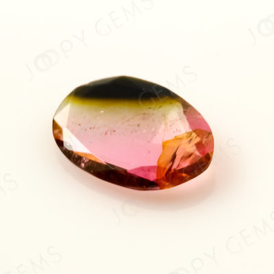 Joopy Gems Tourmaline Rose Cut Freeform, 0.655 carats, 8.7x6.3x1.7mm, PFRTOU494