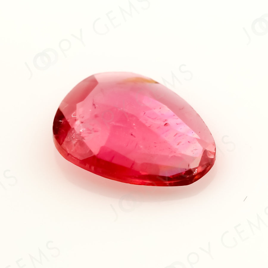 Joopy Gems Tourmaline Rose Cut Freeform, 0.7 carats, 8.1x6.5x2mm, PFRTOU501