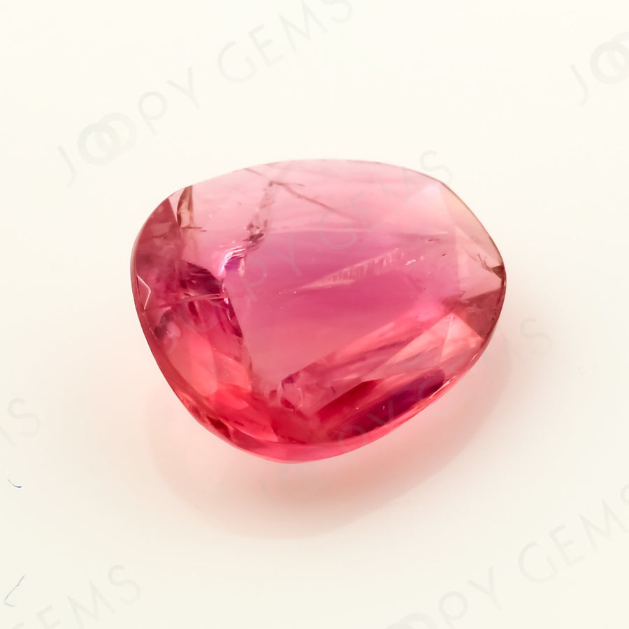 Joopy Gems Tourmaline Rose Cut Freeform, 0.805 carats, 7.4x6.8x2.4mm, PFRTOU502