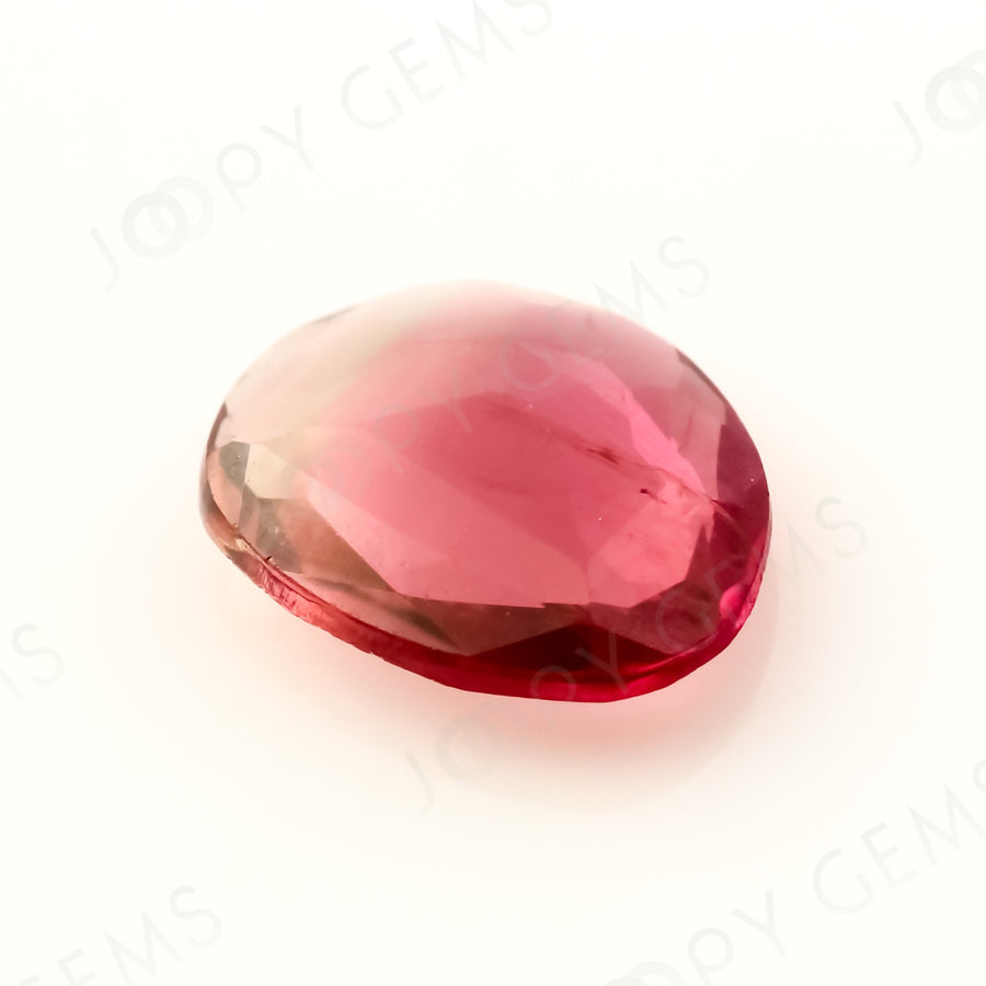 Joopy Gems Tourmaline Rose Cut Freeform, 0.81 carats, 7.8x6.4x2.2mm, PFRTOU503