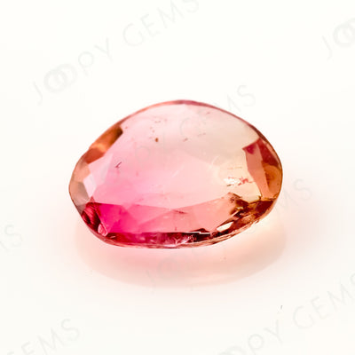 Joopy Gems Tourmaline Rose Cut Freeform, 0.7 carats, 7.4x6.2x2.1mm, PFRTOU518