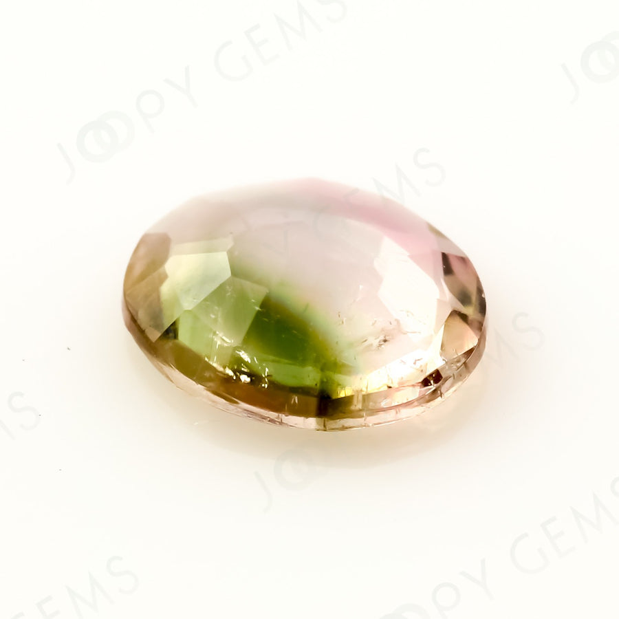 Joopy Gems Tourmaline Rose Cut Freeform, 0.405 carats, 6.2x5.2x1.8mm, PFRTOU533