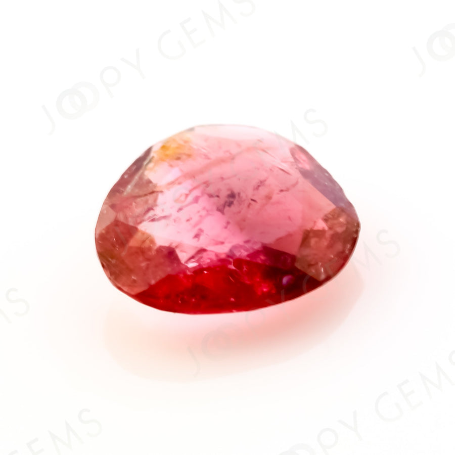 Joopy Gems Tourmaline Rose Cut Freeform, 0.7 carats, 7.3x6.7x2.2mm, PFRTOU561