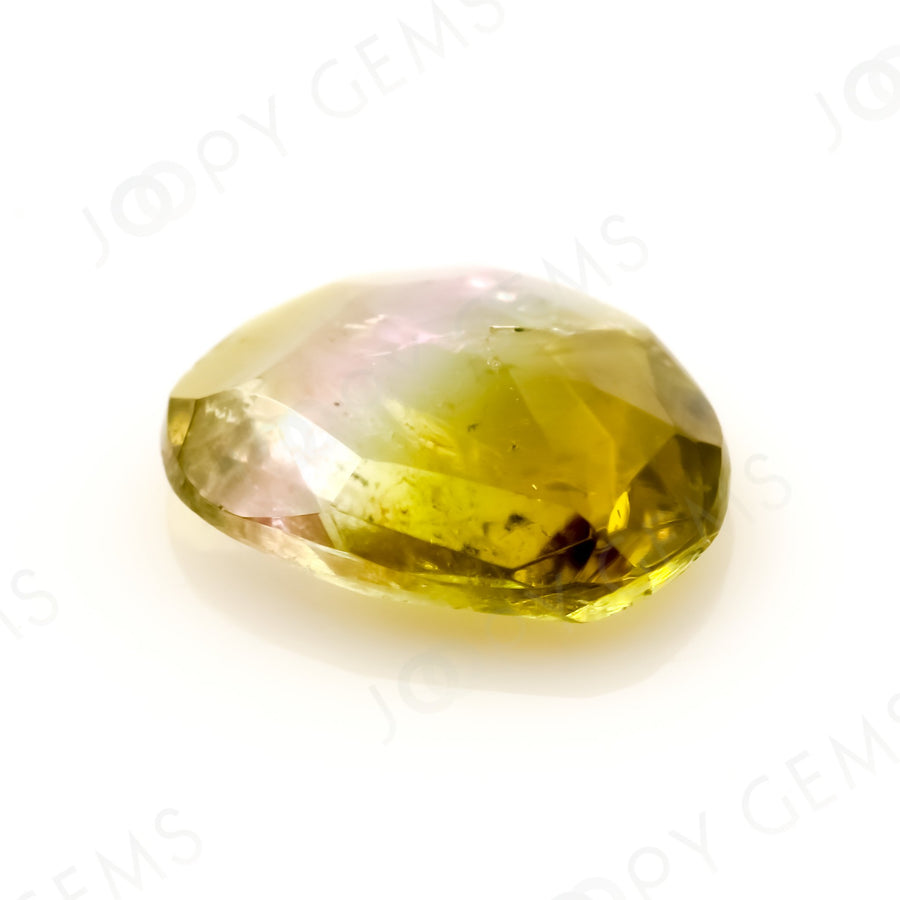 Joopy Gems Tourmaline Rose Cut Freeform, 0.765 carats, 7.8x6.3x2.3mm, PFRTOU571