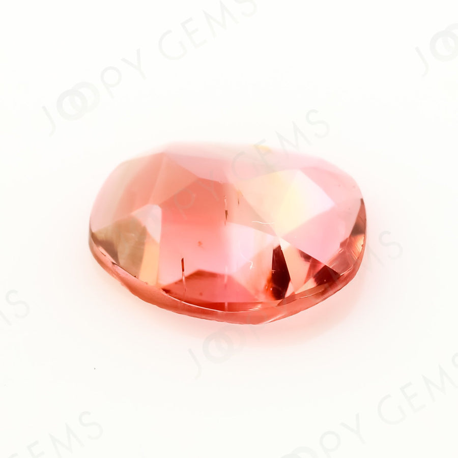 Joopy Gems Tourmaline Rose Cut Freeform, 0.55 carats, 7x6.1x2mm, PFRTOU595