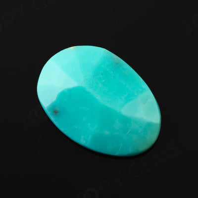 Joopy Gems Turquoise Rose Cut Freeform, 4.25 carats, 15.4x10.8x3.8mm, PFRTUQ113