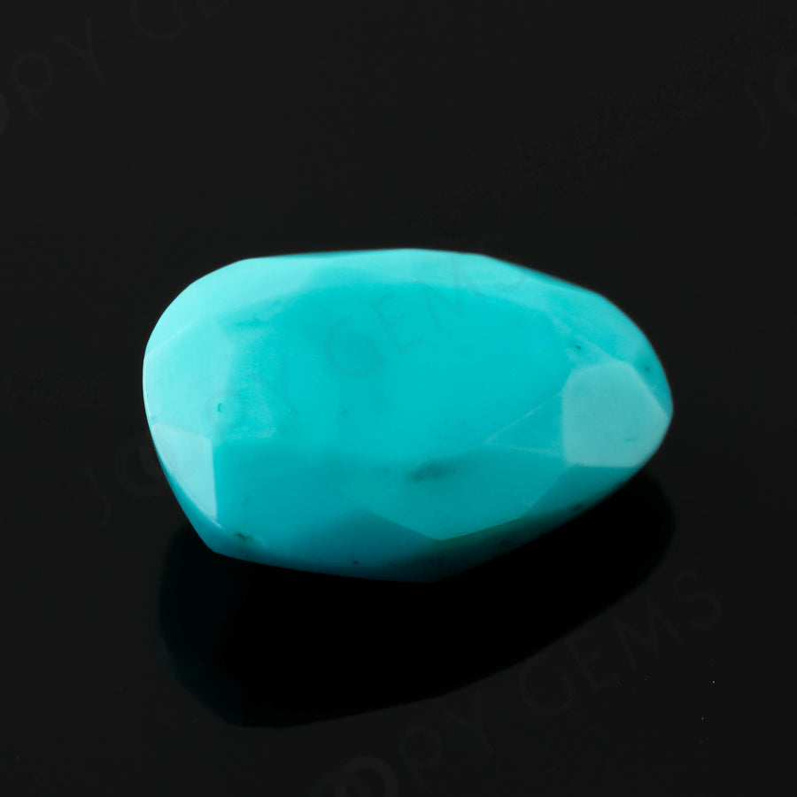 Joopy Gems Turquoise Rose Cut Freeform, 2.605 carats, 11.7x9.1x3.7mm, PFRTUQ116