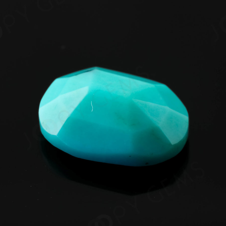 Joopy Gems Turquoise Rose Cut Freeform, 2.01 carats, 10x7.9x3.7mm, PFRTUQ120