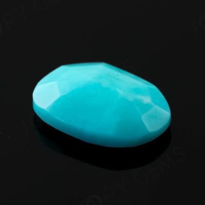 Joopy Gems Turquoise Rose Cut Freeform, 1.6 carats, 10.3x7.8x2.9mm, PFRTUQ122
