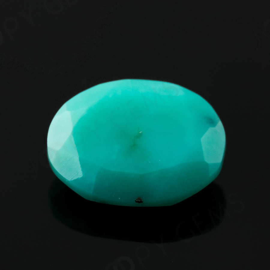 Joopy Gems Turquoise Rose Cut Freeform, 1.865 carats, 10.1x8.3x3.3mm, PFRTUQ126