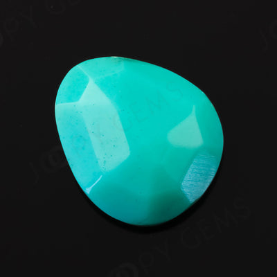 Joopy Gems Turquoise Rose Cut Freeform, 1.665 carats, 9.7x8.3x3.2mm, PFRTUQ128