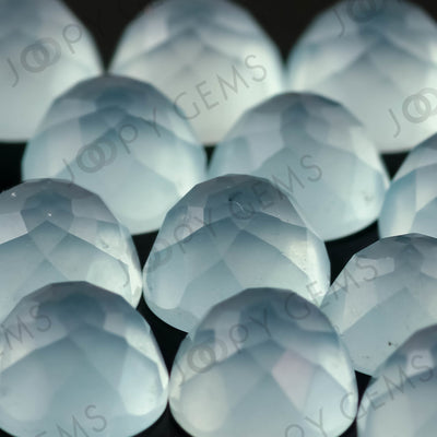 Aquamarine (milky) Rose Cut Cabochon 6mm Round