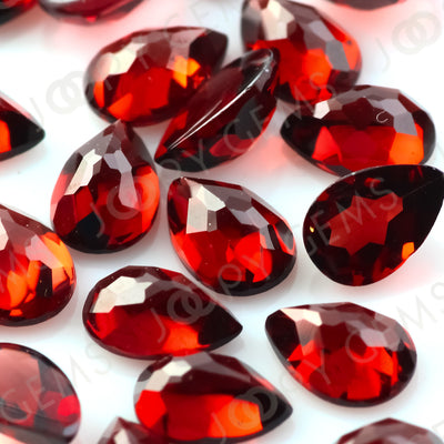 Joopy Gems Almandine Garnet Rose Cut Pear Cabochon 6x4mm