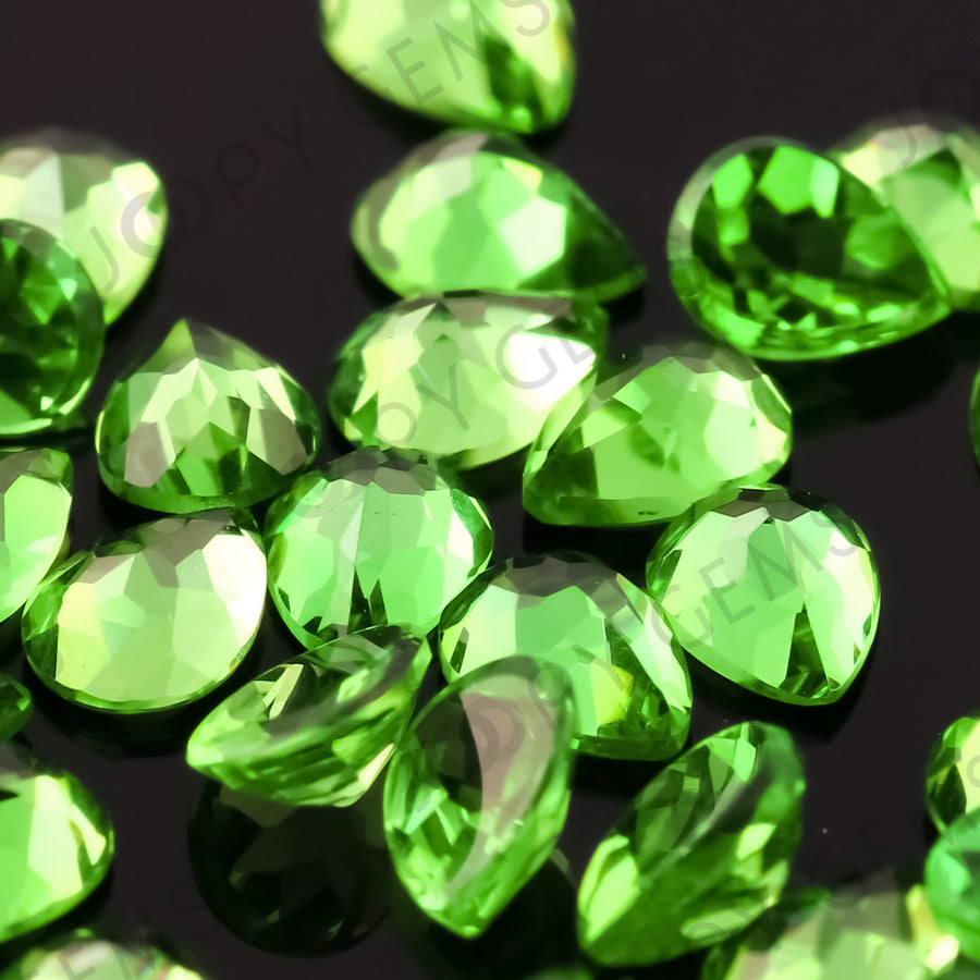 Joopy Gems Tsavorite Garnet Rose Cut Cabochon 3x4mm Pear
