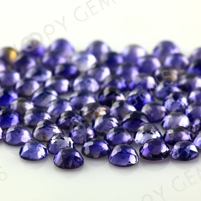 Joopy Gems Iolite Rose Cut Cabochon 4mm Round