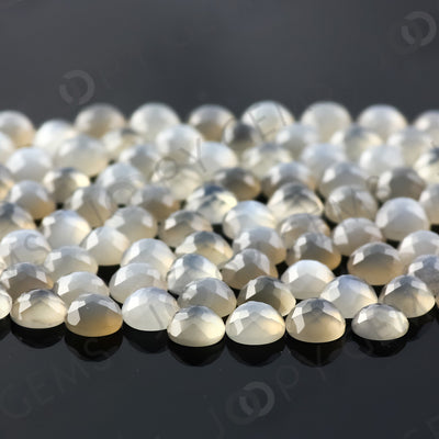 Joopy Gems Grey Moonstone Rose Cut Cabochon 4mm Round