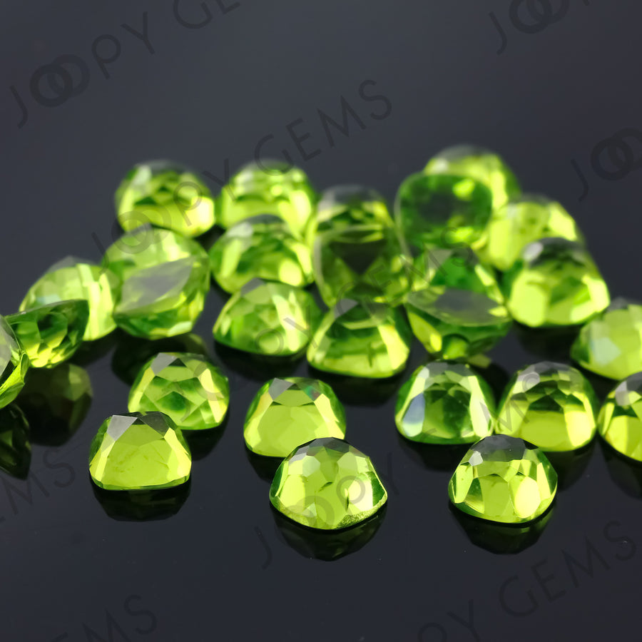 Peridot Rose Cut Cabochon 6mm Square Cushion