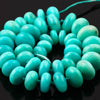 SALE 420 Amazonite Beads 13-14mm Rondelle Full Strand, AA Grade