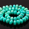 SALE 421 Amazonite Beads 13-14mm Rondelle Full Strand, A Grade Matte Finish