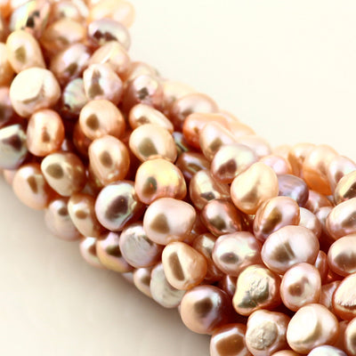 Joopy Gems Multi-Colour Freshwater Cultured Nugget Pearls 7.5-8.5mm full strand